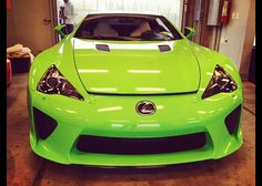 2013 Lexus LFA in Lime Green. Follow more Lexus photos and news by becoming a fan at www.facebook.com/meadelexus.