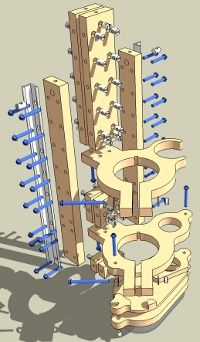 Partial Machine Assembly: Z-Axis for the blackToe and blackFoot CNC Machine Kits Version 4.3
