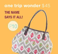One Trip Wonder. Page 10 http://initials-inc.com/  My favorite BAG!!!  @Initials, Inc  #iiSpring