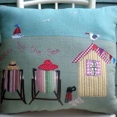 Beach Hut cushion, £45 from www.coastalhome.co.uk - love!