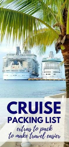 Cruise tips for what to pack for a cruise that you may not have thought of! Travel accessories to consider adding to your cruise packing checklist! Things to think about with your time on board the cruise ship, embarkation day, sea day, shore excursions, Packing List For Cruise, Disney Cruise Tips, Best Cruise, Cruise Travel, Cruise Vacation, Cruise Port, Packing Checklist, Cruise Ships, Beach Travel