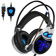 Sades Gaming Headset headband USB Surround Sound wired Stereo Headphones with microphone Led Light for laptop pc game Ps4 Gaming Headset, Gaming Headphones, Headphones With Microphone, Headphone With Mic, Over Ear Headphones, Pc Ps4, Waterproof Headphones, Surround Sound, Computer Accessories
