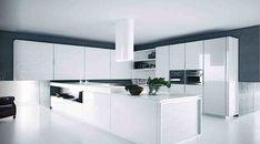 cocinas minimalistas blancas con isla - Buscar con Google