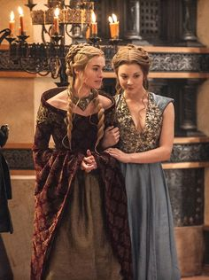Lena Headey as Cersei Lannister and Natalie Dormer as Margaery Tyrell in Game of Thrones
