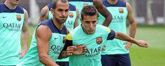 El Barça se ha entrenado a las órdenes de Jordi Roura y Rubi, a la espera de que se anuncie oficialmente del fichaje de Gerardo 'Tata' Martino, que se podría producir de manera inminente.