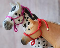 This Rope Halters for Schleich Horses Many Colors is just one of the custom, handmade pieces you'll find in our dolls & action figures shops. Diy Horse Toys, Horse Crafts, Schleich Horses Stable, Breyer Horses, Lauren Diy, Polo Wraps, Rope Halter, Horse Ears, Horse Accessories