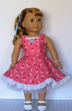 American Dolls, American Girl, Ag Dolls, Girl Dolls, Our Generation Doll Clothes, Hair Ribbons, Dollhouse Ideas, Full Circle Skirts, Doll Dresses
