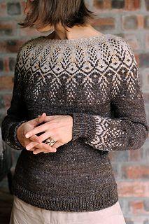 Ravelry: Goldwing pattern by Jennifer Steingass Fair Isle Knitting Patterns, Knitting Designs, Knit Patterns, Knitting Tutorials, Stitch Patterns, Ravelry, Icelandic Sweaters, Nordic Sweater, Free Knitting