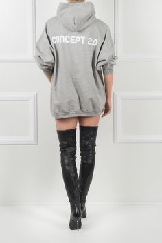 Get the perfect hoodie to be worn with skinny cut pants or high boots for a contemporary ensemble. Lazy Days, Sweatshirt Dress, Hoodies, Sweatshirts, High Boots, Madness, Comfy, Skinny, Chic