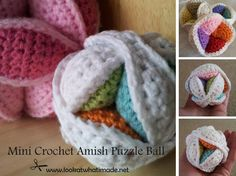 Mini Crochet Amish Puzzle Ball 15 Mini Crochet Amish Puzzle Ball