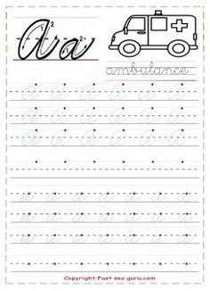 Printable cursive handwriting practice sheets letter a for kindergarten.free cursive tracing handwriting practice sheets for preschool.free writing practice worksheets for graders,cursive learning upper and lowercase letters worksheets for kids Cursive Handwriting Sheets, Cursive Writing Practice Sheets, Teaching Cursive Writing, Letter Practice Sheets, Learning Cursive, Learn Handwriting, Writing Practice Worksheets, Handwriting Analysis, Hand Writing