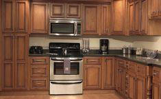 Kitchen Cabinet Trends , 12 Hottest Kitchen Cabinets : Medium Stained Maple With A Rich Dark Brown Glaze