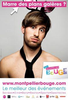 Campagne d'affichage réalisée pour le lancement du site www.montpellierbouge.com Conception / rédaction & création graphique