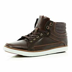 b3b811980852 Brown lace up boots - boots - shoes   boots - men Mens Clothing Sale