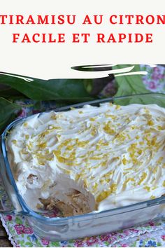 Easy and quick lemon tiramisu, prepares in advance and is suitable for .