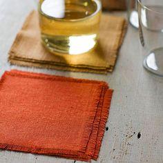 DIY simple linen coasters