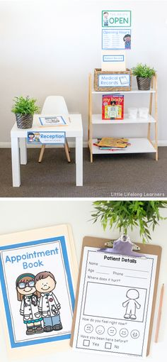 Doctor Themed Imaginative Role Play - Little Lifelong Learners - - Imaginative role play is an important part of early childhood development. Set up an engaging doctor themed dramatic play corner with these fun printables! Dramatic Play Themes, Dramatic Play Area, Dramatic Play Centers, Doctor Role Play, Playing Doctor, Play Based Learning, Learning Through Play, Toddler Preschool, Preschool Activities