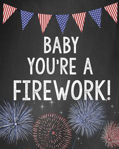 4th of july Baby You're a Firework Digital by LiviLouDesigns