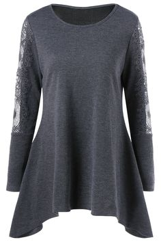 $12.97 Lace Insert Tunic Knitwear