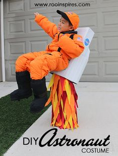 DIY Flying Astronaut Costume
