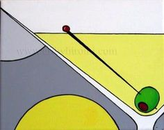 Yessy > >>ORIGINAL ABSTRACT ART< A CONTEMPORARY MODERN > Martini ...