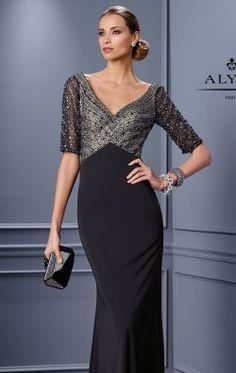 Beaded Slim Gown by Alyce Jean De Lys Gorgeous <3 <3