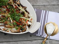 Sea bass, oyster sauce, shiitake mushrooms - this recipe has everything!