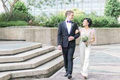 This Bride Wore an Amazing Pantsuit in Her Modern Minimalist Wedding! Unique Wedding Gowns, Wedding Attire, Unique Weddings, Real Weddings, Wedding Dresses, Minimalist Wedding Reception, Modern Minimalist Wedding, Modern Filipiniana Dress, Bride And Breakfast