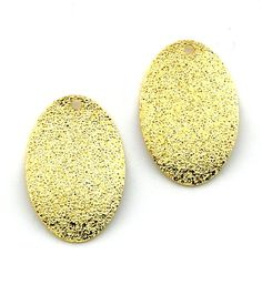 6pcs 14x21mm Gold Plated Stardust Oval by FancyGemsandFindings, $4.25