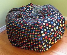 makingitfun: Bean Bag Chair  I'm floored by how expensive bean bag chairs are. My kids each want one. This tutorial would make it a possibility for us.