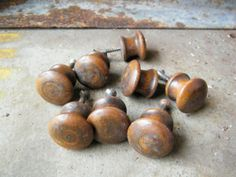 Drawer Pulls / Handles / Brown / Pine by assemblage333 on Etsy, $16.00