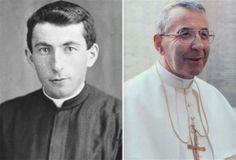 Albino Luciani, left, became Pope John Paul I.