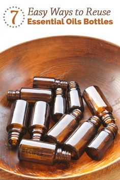 7 Ways To Reuse Empty Essential Oils Bottles + How to Remove the Label Easily from RecipesWithEssentialOils.com