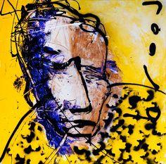 Herman Brood (1946-2001) was een Nederlandse zanger, kunstschilder, pianist, acteur en auteur. Brood onderscheidde zich door zijn kenmerkende zangstem en muzikale diversiteit. Nadat amfetamine en jarenlang stevig alcoholgebruik z'n lichaam in hoge mate hadden verwoest, vertoonde Brood standaardontwenningsverschijnselen zoals incontinentie, epilepsie en delirium tremens. Enkele maanden voor zijn vijfenvijftigste verjaardag sprong hij vanaf het dak van het Hilton. Dutch Artists, Famous Artists, Great Artists, Amsterdam Art, Teen Art, Dutch Painters, Architectural Antiques, Amazing Art, Modern Art
