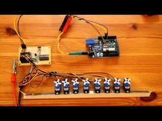 Drive up to 10 Servos with just 2 Arduino Pins using 74HC4017