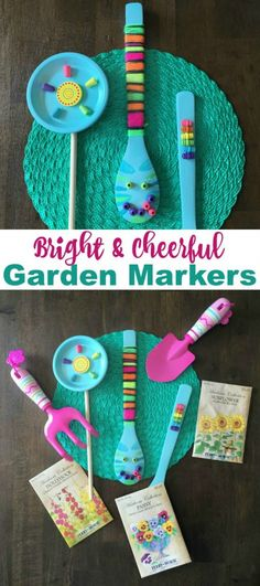 Make bright & cheerful accessories for your garden and potted plants with this fun tutorial on the Melissa & Doug blog
