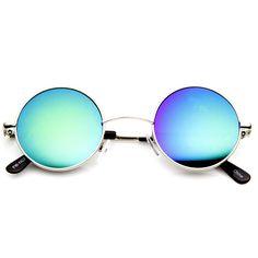 Retro Lennon Style Round Circle Metal Mirror Lens Sunglasses 1408 from zeroUV