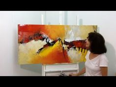 Pintura em Tela - Pintura em Tela Reciclada - Tela 2 - YouTube