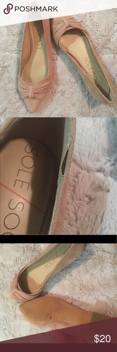 Sole Society Flats Lightly worn. Small signs of wear. On one shoe stitching has come apart. But cannot tell once you have them on! Size 7.5 Sole Society Shoes Flats & Loafers