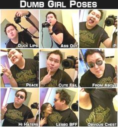 Dumb Girl's Dumb Poses