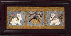 "PATTERN : Wool Applique ""Bunny Hop"" by Bits and Pieces by Joan"
