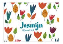 www.kaartjesenco.be meisje Geboortekaartje Jasmijn