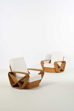Paul Frankl; Bamboo Club Chairs for Toho International, 1953.