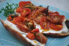 Bakeaway with Me: CTBF's Cherry Tomato Crostini with Herbed Goat Cheese and A…