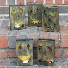Halloween Luminary Bags made with Cricut Explore -- The Country Chic Cottage. #DesignSpaceStar Round 3