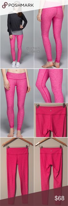 🎉HP🎉 Lululemon wunder under pant 🎉Party Host Pick on 2/28/17🎉                Lululemon wunder under pants in Heathered jeweled Magenta pink, size 4, perfect like new condition with no flaws, zero piling. Bundle to save 10% off 💜☺ lululemon athletica Pants Leggings