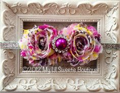Colorful print headband photo Prop Newborn by MyLilSweetieBoutique, $9.95