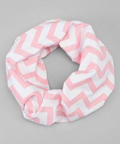 Light Pink Chevron Toddler Infinity Scarf