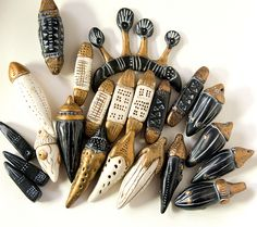 black and gold and ivory beads by SelenaAnne, via Flickr