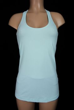 LULULEMON Cool Racerback Tank M Medium Light Blue Lightweight CRB #Lululemon #SportsBrasBraTops